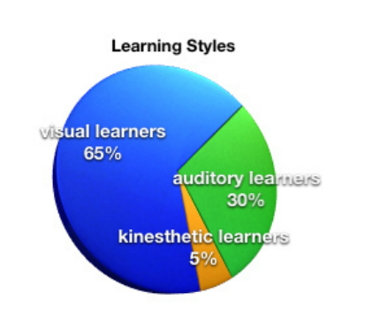 Different learning styles graphs